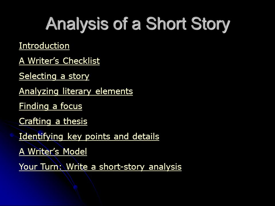 analysis of a short story ppt video online  analysis of a short story