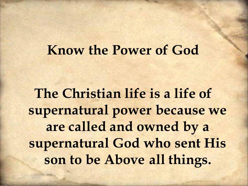 supernatural power of god pdf