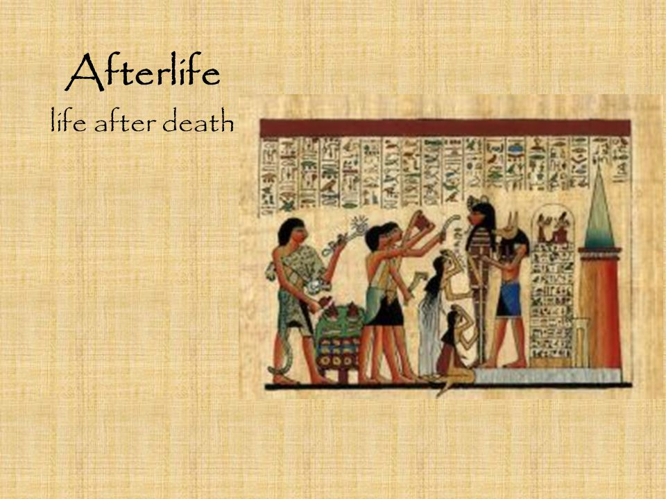 Afterlife life after death
