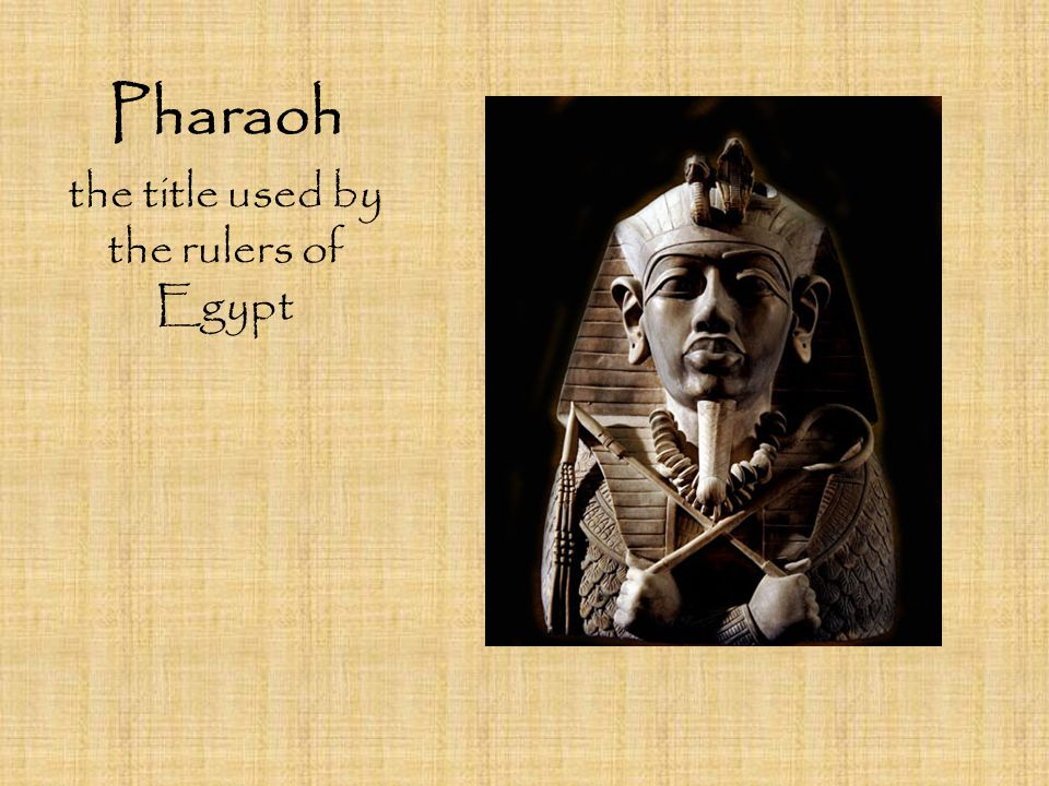 the title used by the rulers of Egypt
