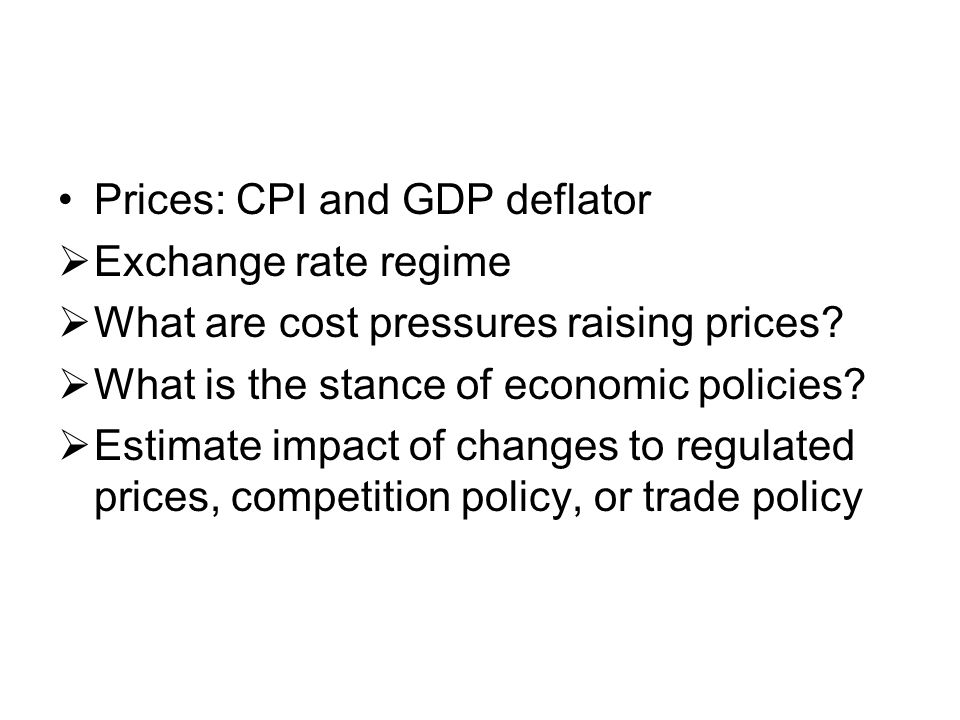 Prices: CPI and GDP deflator