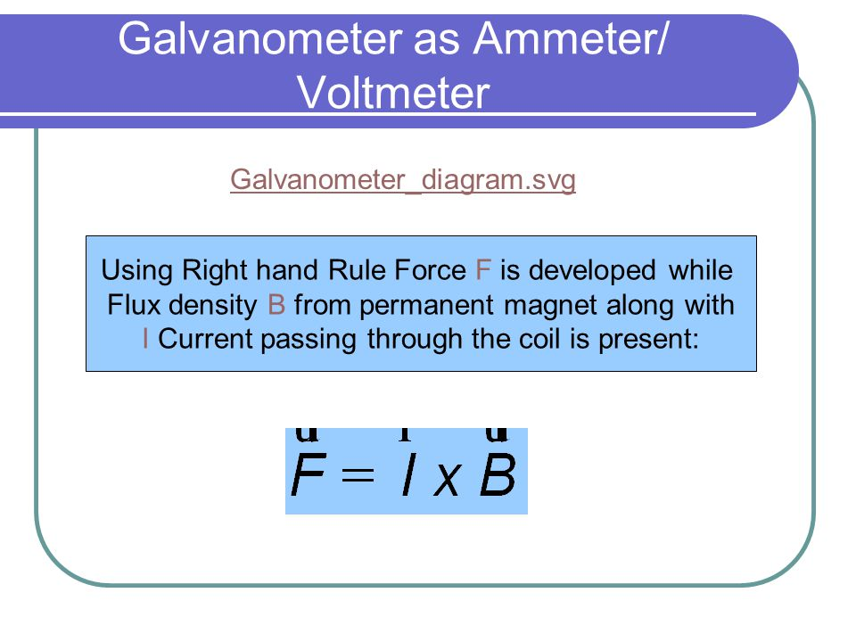 Galvanometer Ammeter And Voltmeter - Wiring Diagrams •