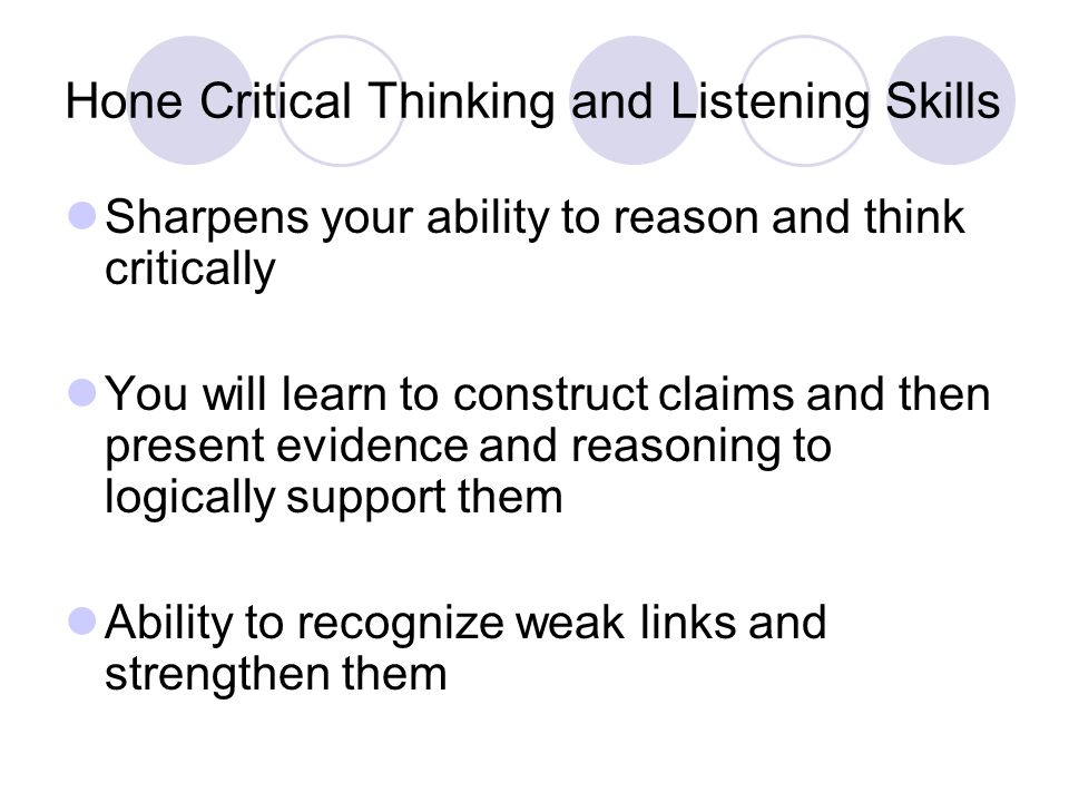 listening and critical thinking skills Expectations are set high for native speakers, so critical thinking skills are fundamental for setting esl students up for future success.