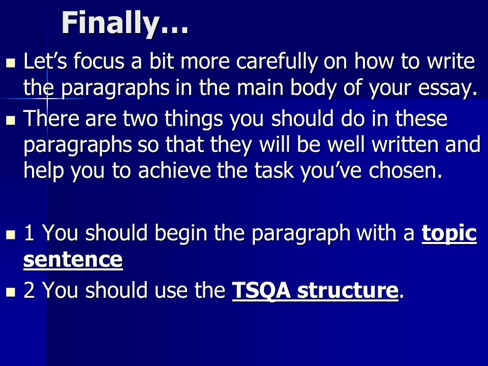 How to focus on essays