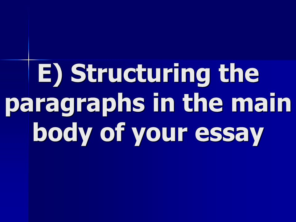 main body of argumentative essay The writer should synthesize the information shared in the body of the essay as they restate the topic's importance, review main points, as well as review the thesis no new information should be shared in the conclusion.