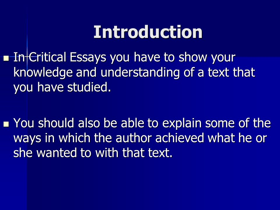 essay criticism text What is a Critical Essay?