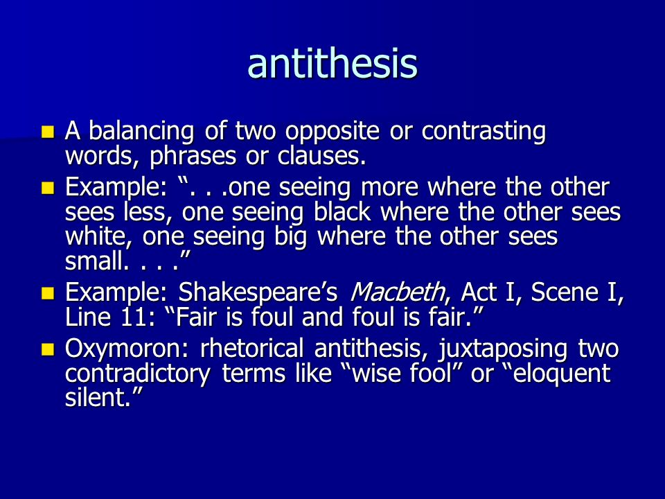 antithesis rhetorical strategy 4 things that made jfk's inaugural address so effective rhetorical devices used in the speech home  use of antithesis  (in the transcript below, the rhetorical devices used are shown in bold, followed by their name in capitals in brackets.