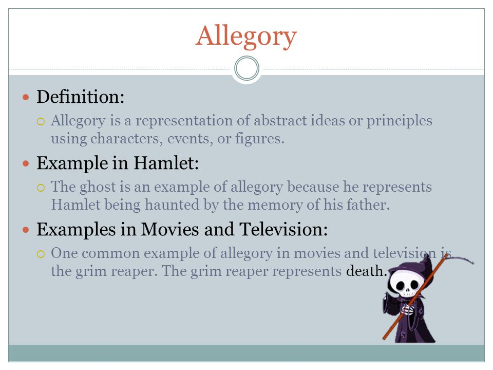 Allegory Definition: Example in Hamlet: