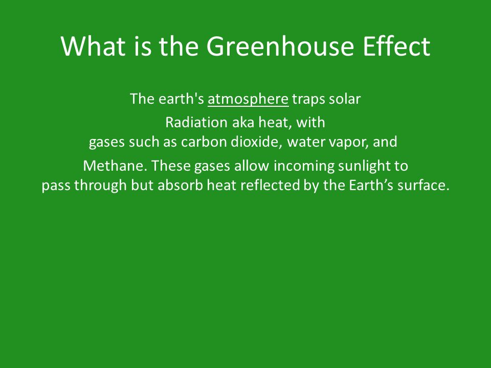 Aims and objectives of greenhouse effect
