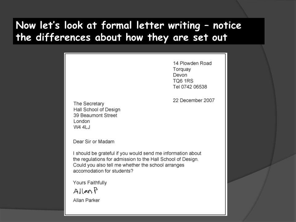Formal Letter Wjec