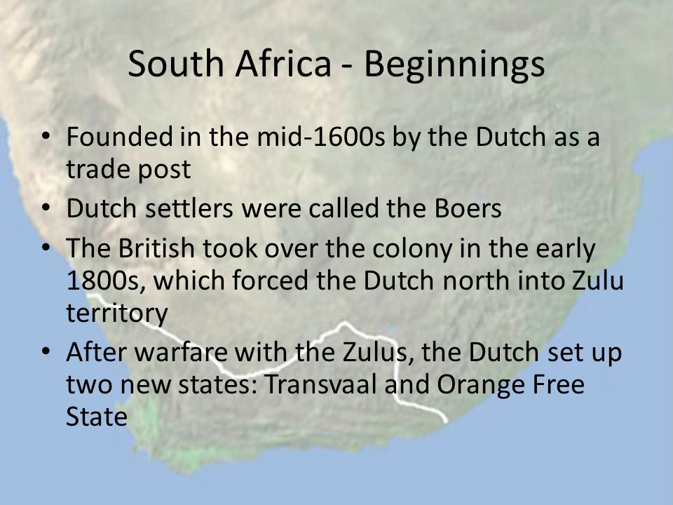 South Africa - Beginnings