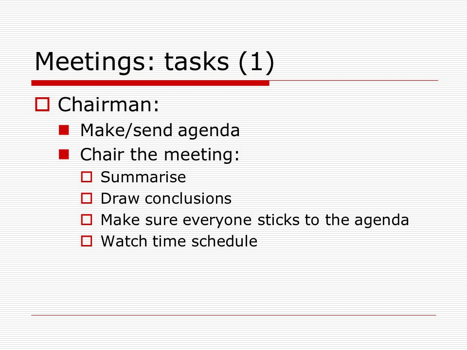 making a meeting agenda