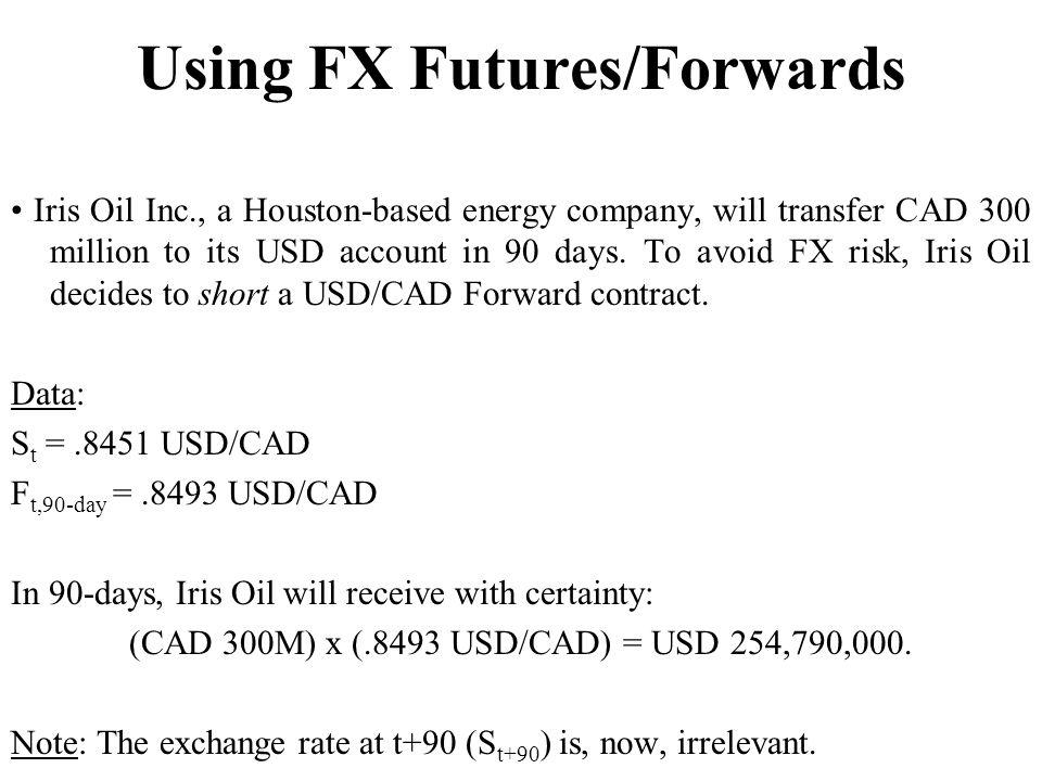 Using FX Futures/Forwards