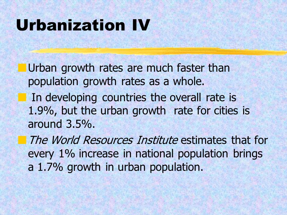urbanization in developing countries pdf