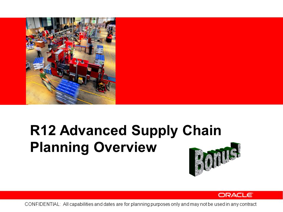 Discrete manufacturing whats new in r12 ppt download r12 advanced supply chain planning overview publicscrutiny Images