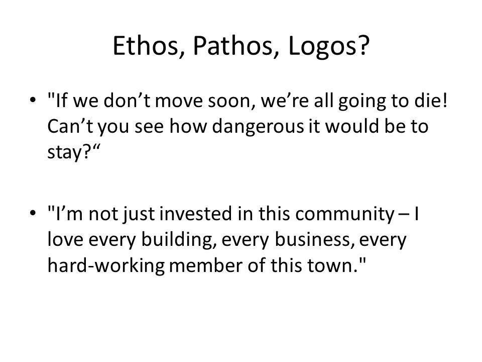 analysis of ethos logos and pathos Rhetorical analysis essay and appeals to ethos and logos throughout make a strong another idea might be to group all the analysis of pathos together.