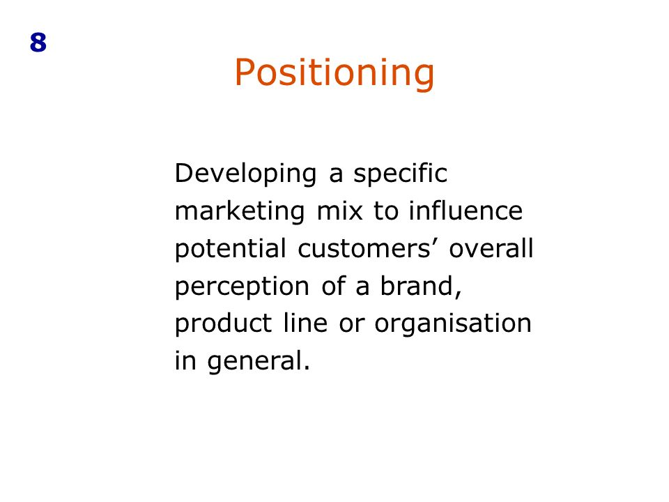 specific product positioning Marketers are able to follow several positioning strategies that include  positioning on specific product key attributes such as price and performance  another.