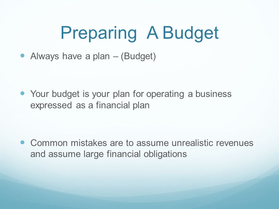 financial budget plan - Vertola