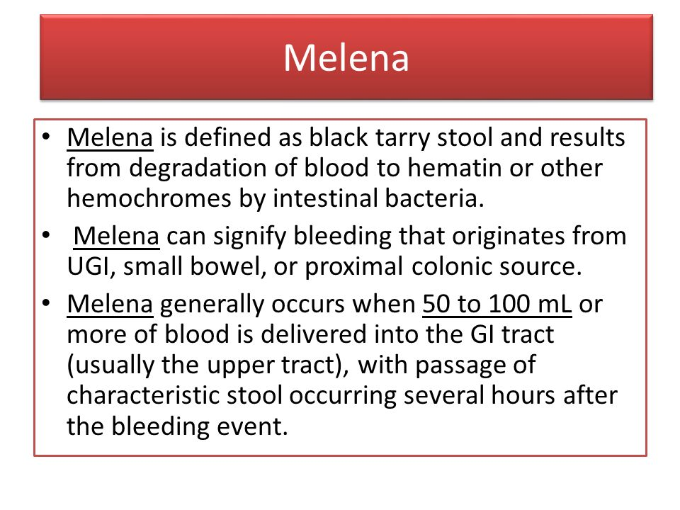 7 Melena Melena is defined as black tarry stool ...  sc 1 st  SlidePlayer & Gastrointestinal Bleeding - ppt video online download islam-shia.org