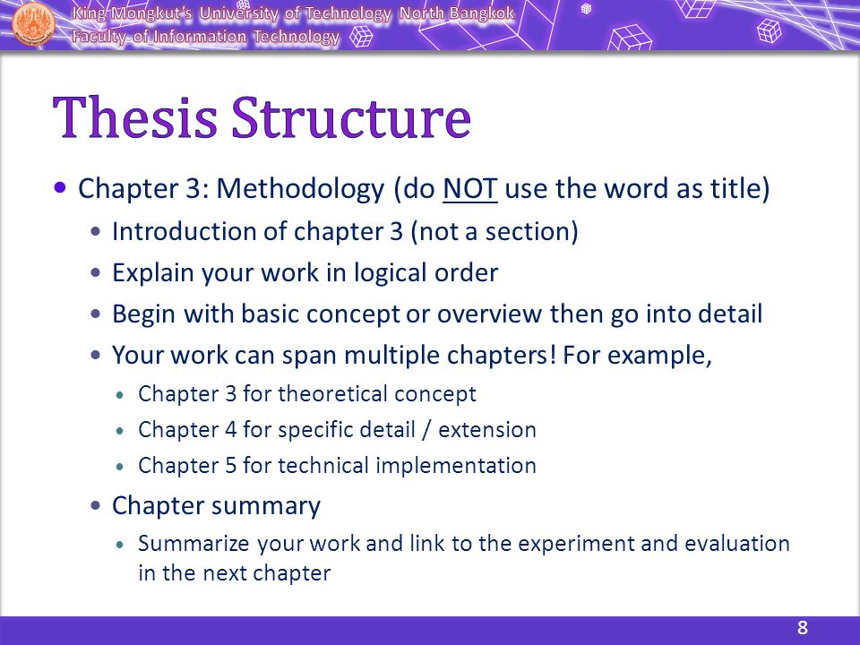 dissertation evaluation chapter The title the dissertation ends up with need not be the one it started with in the chapter 1 begins execution and evaluation might be covered what.