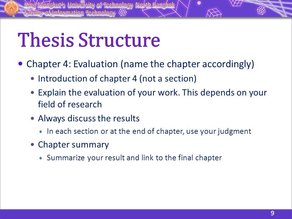 Dissertation writing results section