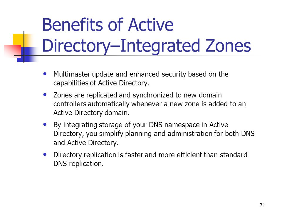 The benefits of moving clients to an Active Directory environment