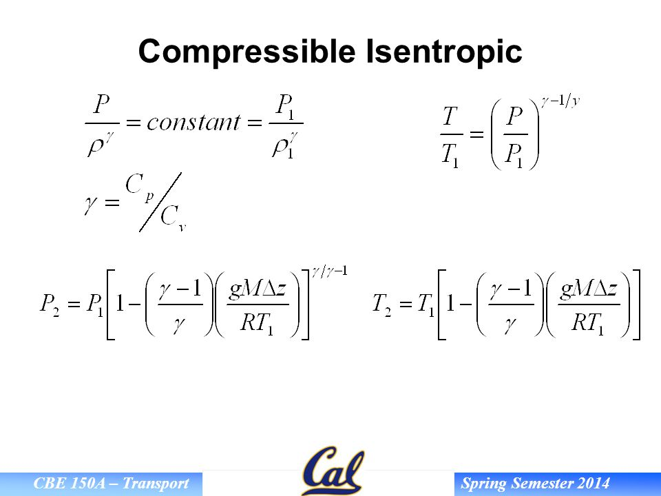 Compressible Isentropic