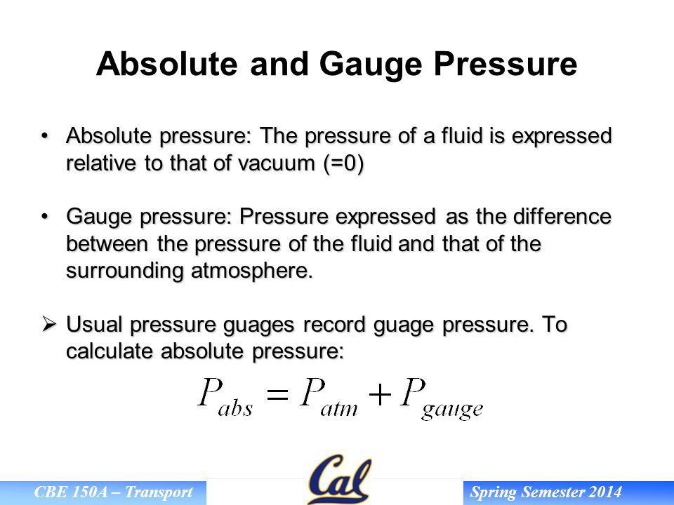 Absolute and Gauge Pressure