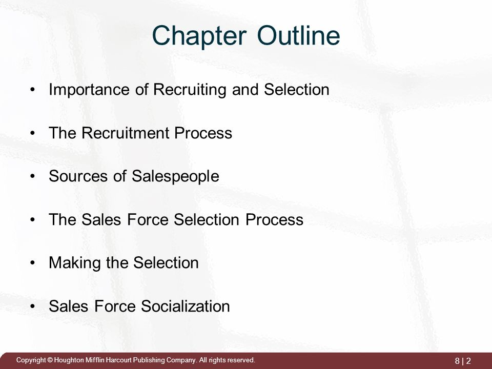 importance of selection of sales people 12 factors to consider when hiring a head of  the quality of any organization is directly correlated to the quality of its people sales is no different.