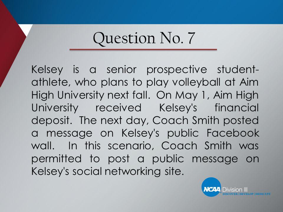 Question No. 7