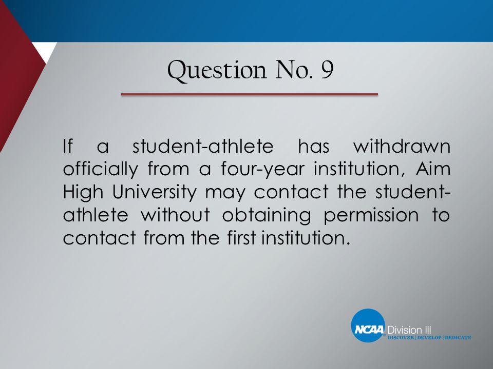 Question No. 9