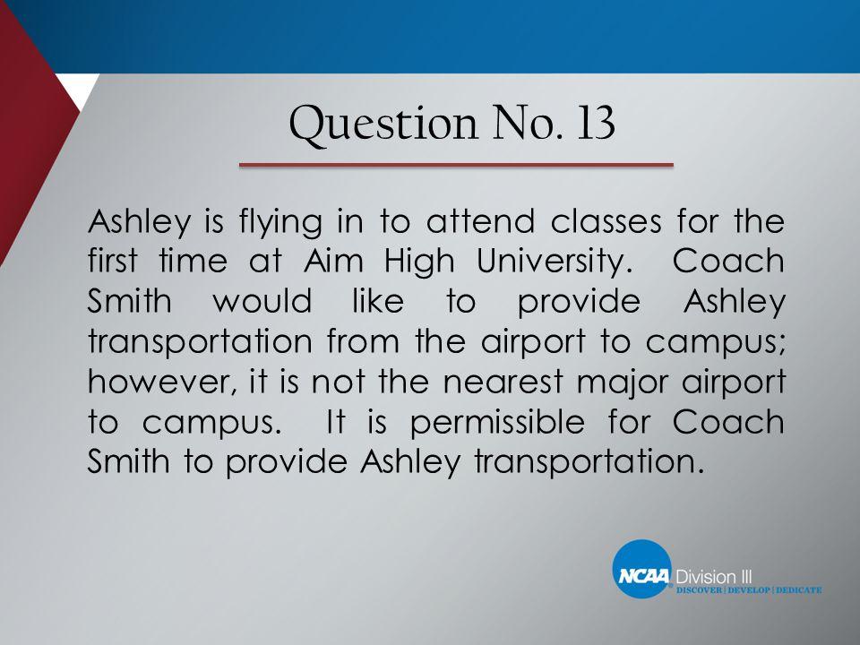 Question No. 13