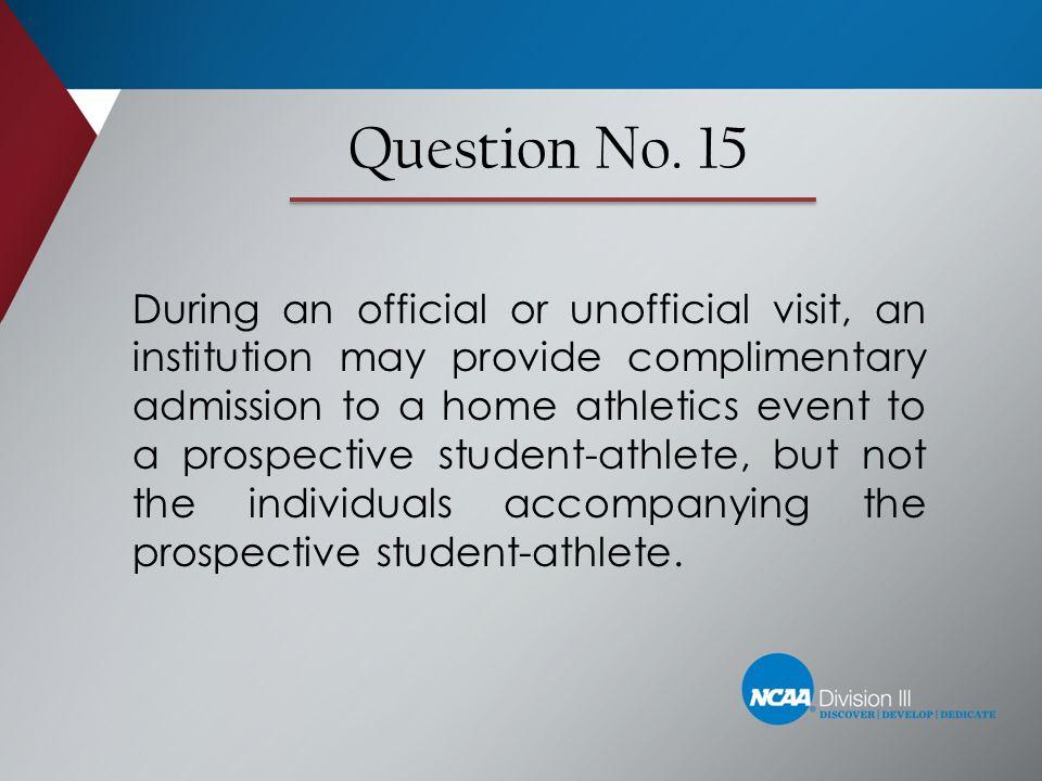 Question No. 15