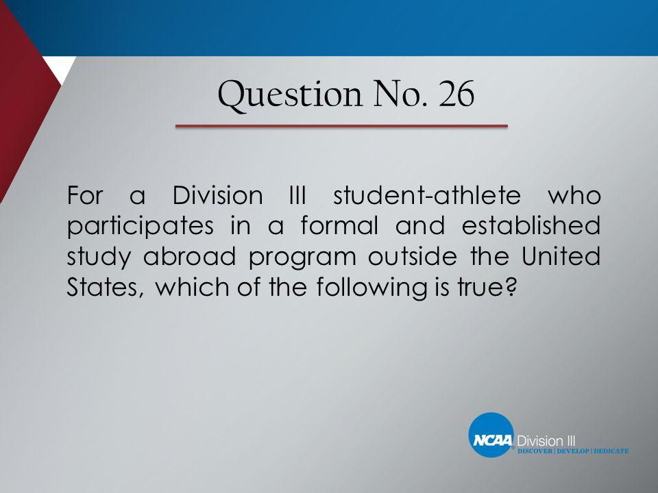 Question No. 26