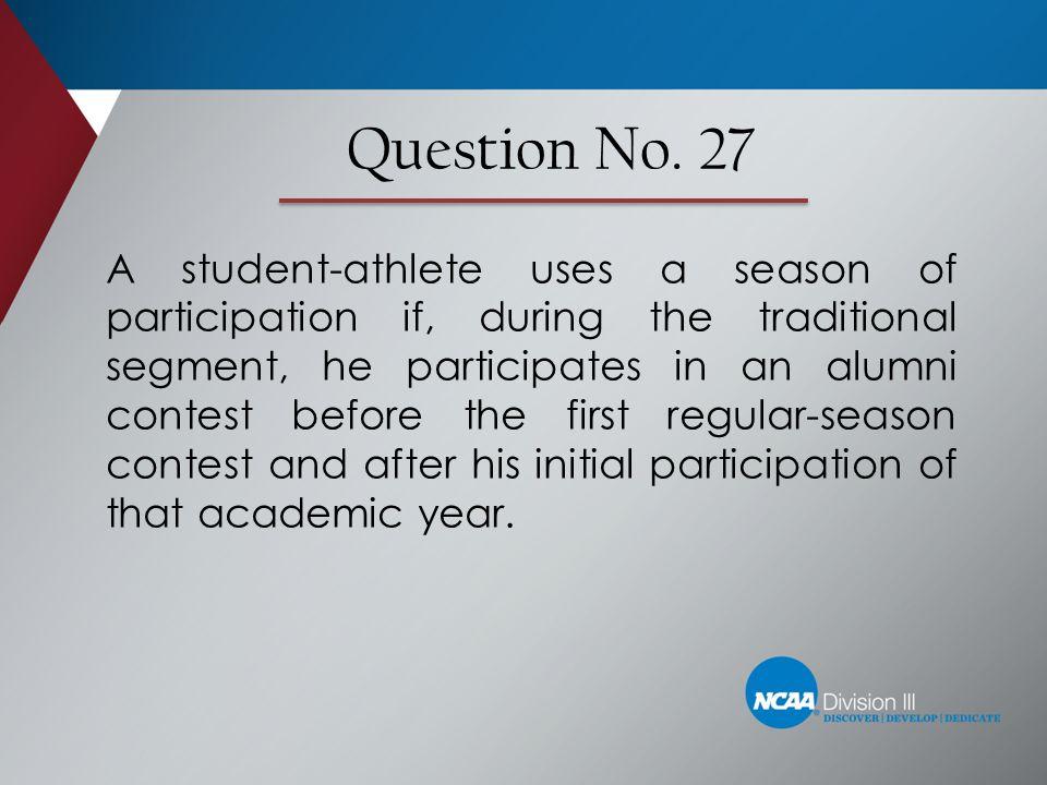 Question No. 27