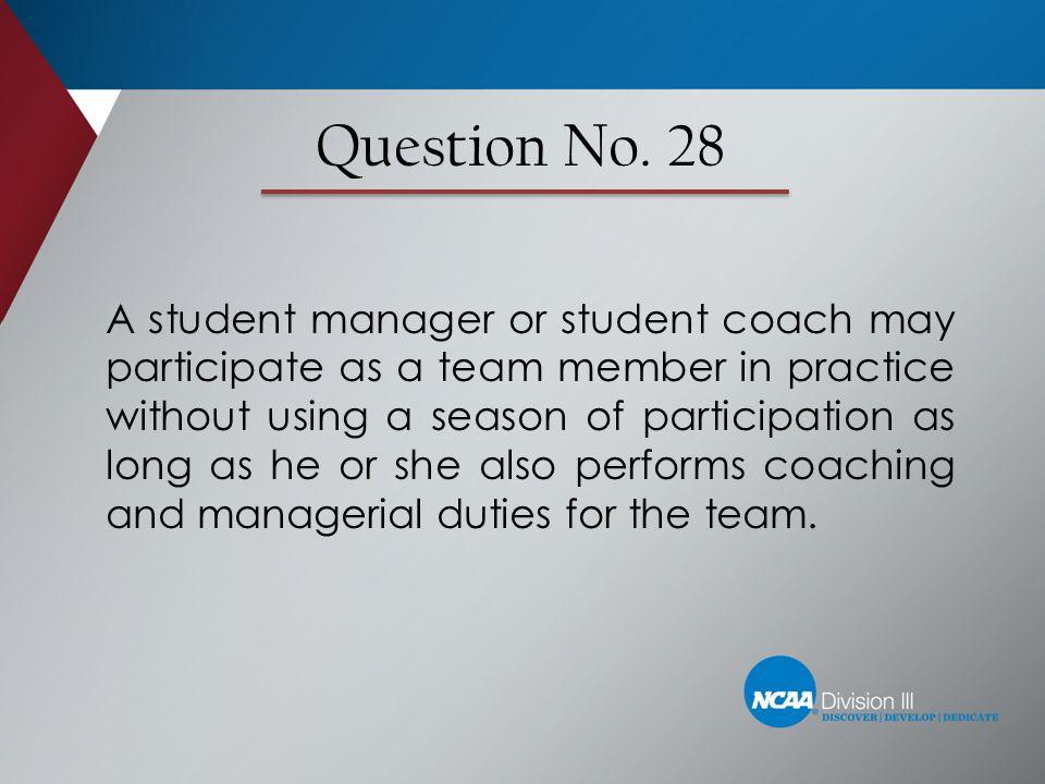 Question No. 28