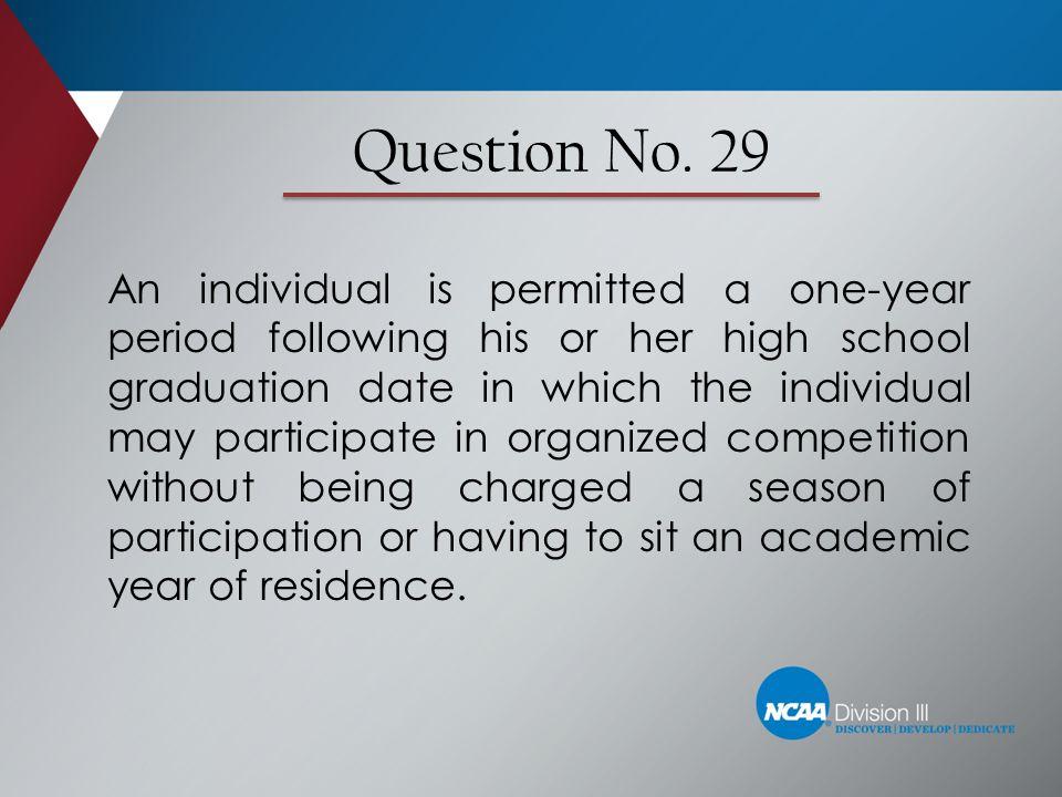 Question No. 29