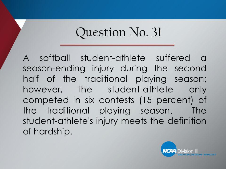 Question No. 31