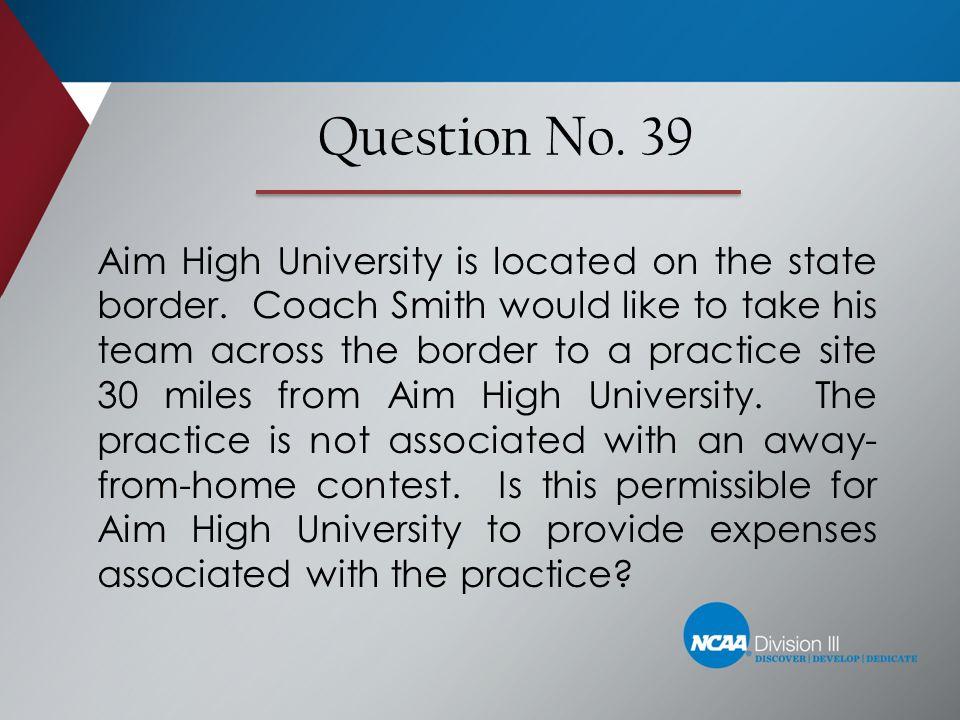Question No. 39