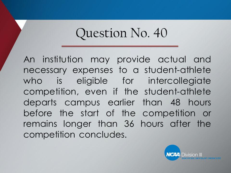 Question No. 40