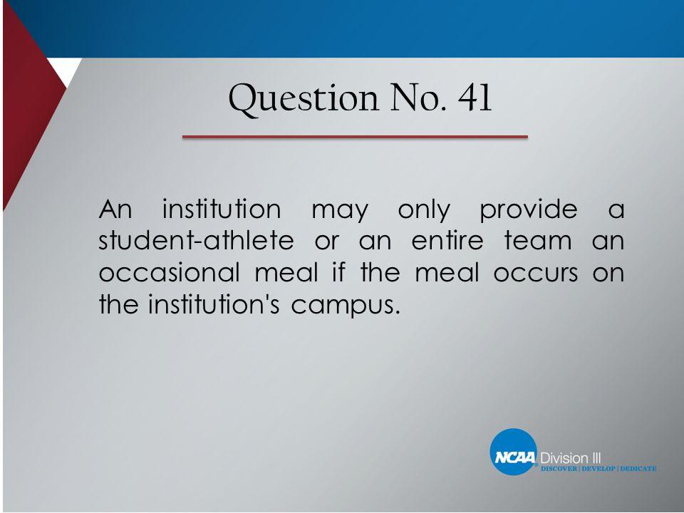Question No. 41