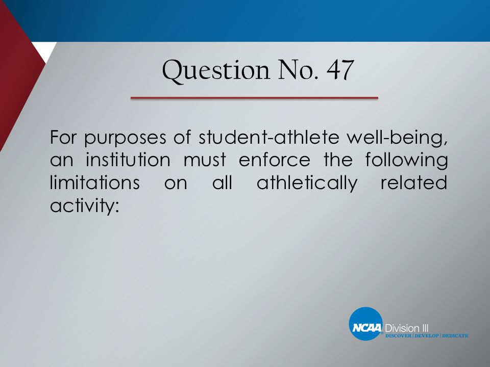 Question No. 47