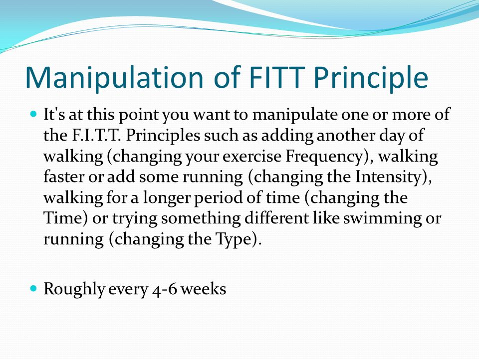 The F I T T Principle Is One Of The Foundations Of