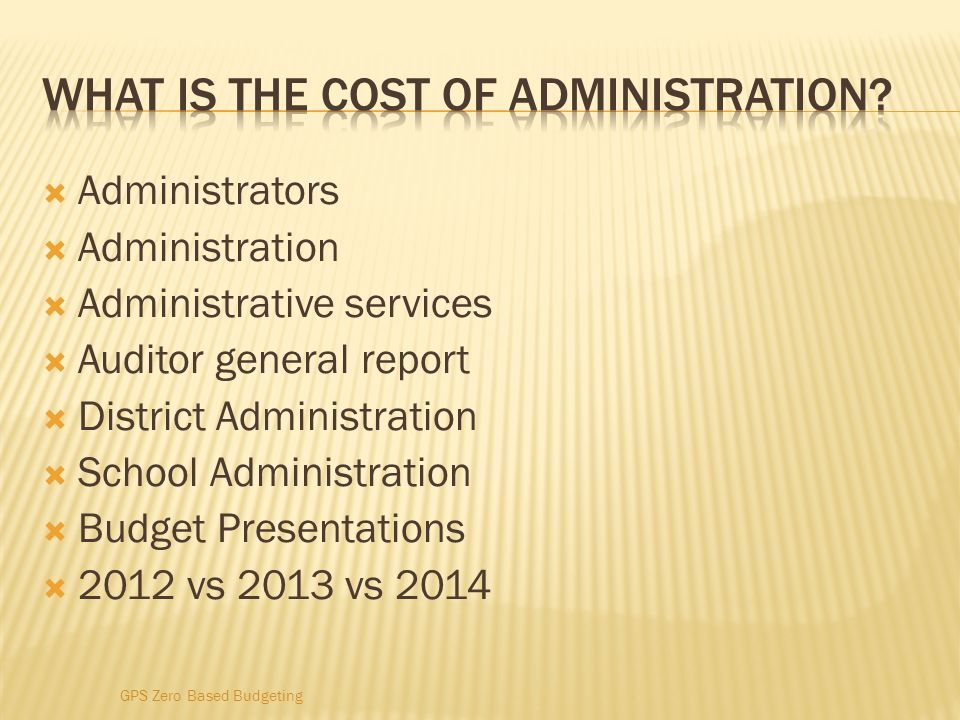 What is the cost of administration