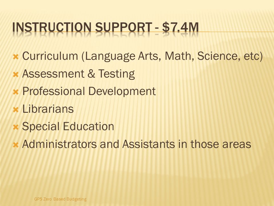 Instruction support - $7.4M