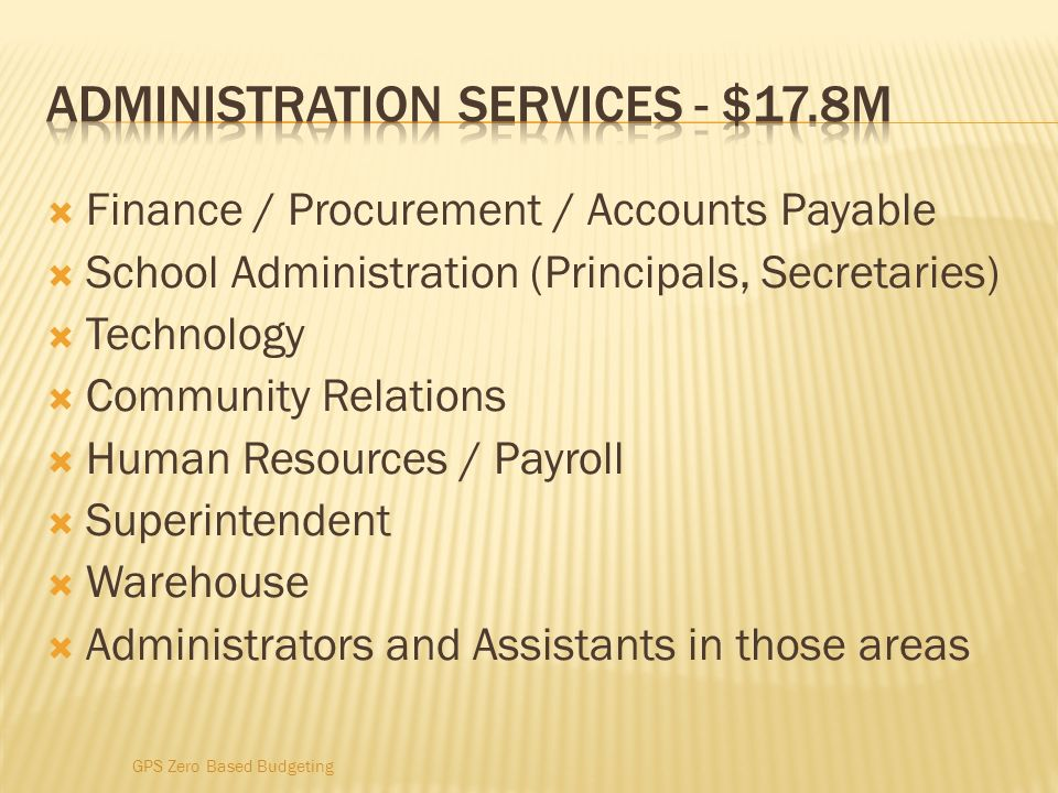 Administration services - $17.8M