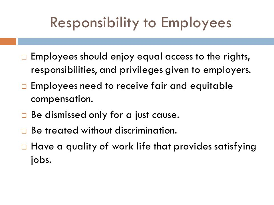 What Are the Responsibilities as an Employee Regarding