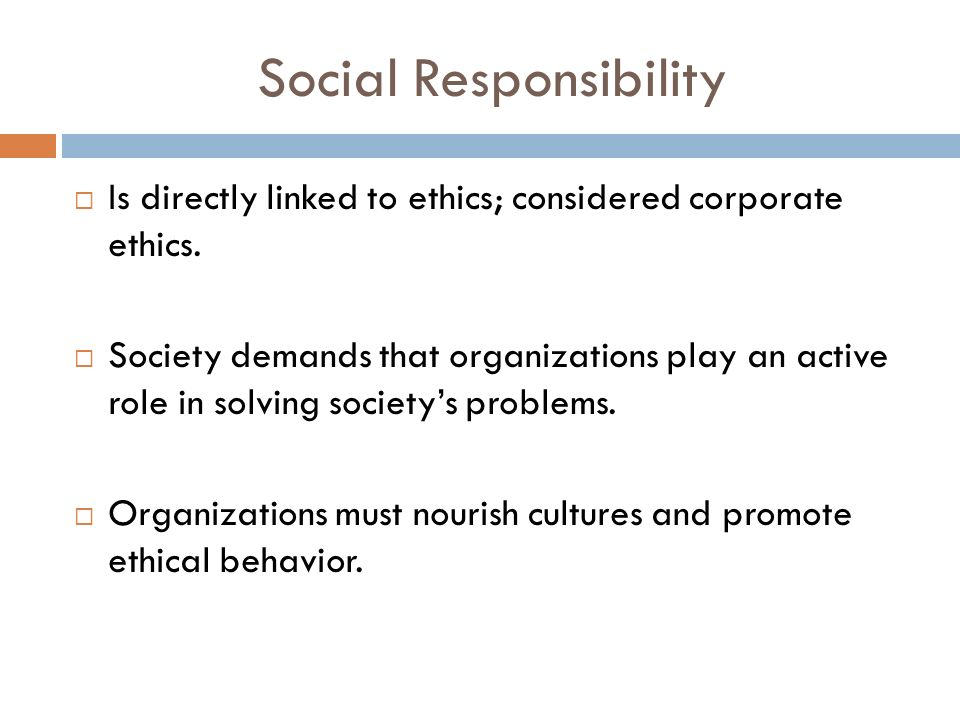 """the significance of corporate social responsibility in an organizations With csr, organizations take responsibility for the impact of their activities on   csr is sometimes called """"corporate citizenship,"""" meaning that a company."""