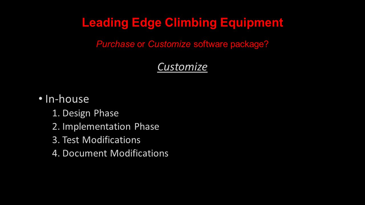 leading edge climbing equipment ppt video online download