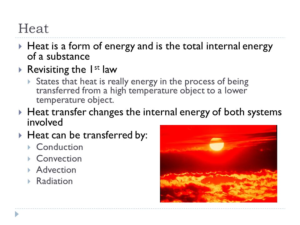Energy and Heat Transfer - ppt download